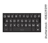 smartphone keyboard dark vector