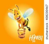 bee honey | Shutterstock .eps vector #408230467