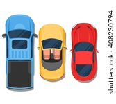 cars top view. convertible ... | Shutterstock .eps vector #408230794