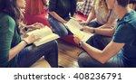 classmate classroom sharing... | Shutterstock . vector #408236791