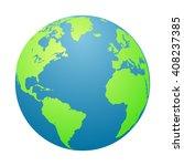world  globe. planet earth in a ... | Shutterstock .eps vector #408237385