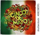 cinco de mayo colorful festive... | Shutterstock .eps vector #408238591