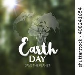 Earth Day. Earth World Map...