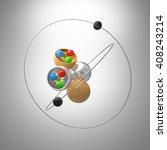 Atom Model With Quarks Inside...
