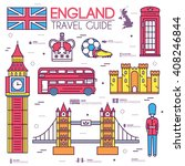 country england travel vacation ... | Shutterstock .eps vector #408246844