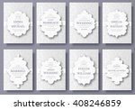 set of wedding ornament concept.... | Shutterstock .eps vector #408246859
