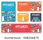 home appliances cards set.... | Shutterstock .eps vector #408246874
