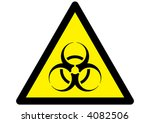 vector bio hazard warning... | Shutterstock .eps vector #4082506
