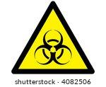 vector bio hazard warning... | Shutterstock .eps vector #4082506