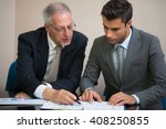 business people at work in... | Shutterstock . vector #408250855