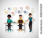 communication and people... | Shutterstock .eps vector #408254569