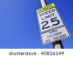 25 mile an hour school zone... | Shutterstock . vector #40826149