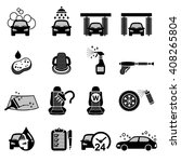 car wash  car care icons set  ... | Shutterstock .eps vector #408265804