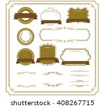 decorative frame set vector  | Shutterstock .eps vector #408267715