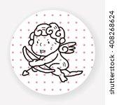 cupid doodle | Shutterstock .eps vector #408268624