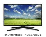 4k monitor isolated on white | Shutterstock . vector #408270871