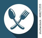 organic food design over white... | Shutterstock .eps vector #408271555
