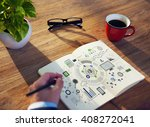 information technology digital... | Shutterstock . vector #408272041
