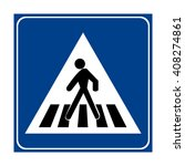 italy pedestrian crossing sign | Shutterstock .eps vector #408274861