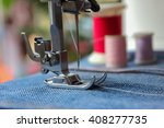 close up shot of sewing machine | Shutterstock . vector #408277735