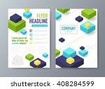 abstract vector brochure flyer... | Shutterstock .eps vector #408284599