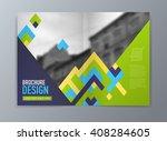 abstract vector brochure flyer... | Shutterstock .eps vector #408284605