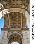 detail arc de triomphe paris... | Shutterstock . vector #408291151