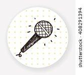 doodle microphone | Shutterstock .eps vector #408291394