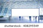 blank billboard  | Shutterstock . vector #408295549
