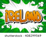 ireland   comic book style word