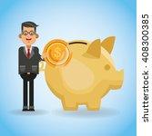 money illustration over blue... | Shutterstock .eps vector #408300385
