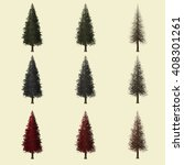 redwood tree season change set... | Shutterstock . vector #408301261