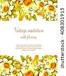 romantic invitation. wedding ... | Shutterstock . vector #408301915