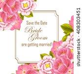 romantic invitation. wedding ... | Shutterstock .eps vector #408303451