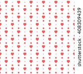 red seamless heart pattern | Shutterstock .eps vector #408309439