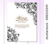 romantic invitation. wedding ... | Shutterstock . vector #408310345