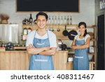 successful small business owner ... | Shutterstock . vector #408311467