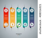 infographic concept with 5... | Shutterstock .eps vector #408316321
