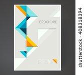 cover design template. brochure ... | Shutterstock .eps vector #408318394