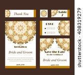 set of wedding invitations.... | Shutterstock .eps vector #408319279