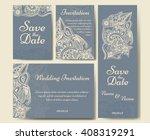 set of wedding invitations.... | Shutterstock .eps vector #408319291