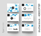 dna molecule vector brochure... | Shutterstock .eps vector #408319789