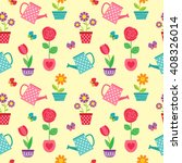 cute seamless pattern with... | Shutterstock . vector #408326014