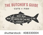 cut of meat set. poster butcher ... | Shutterstock .eps vector #408330004