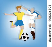 soccer players in tournament | Shutterstock .eps vector #408336505