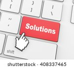 solution concepts  a message on ... | Shutterstock . vector #408337465