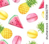 Seamless Pattern With Isolated...