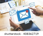 message online chat social text ... | Shutterstock . vector #408362719
