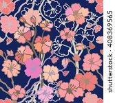 spring garden. seamless floral...   Shutterstock .eps vector #408369565