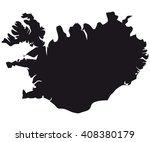 iceland map | Shutterstock .eps vector #408380179